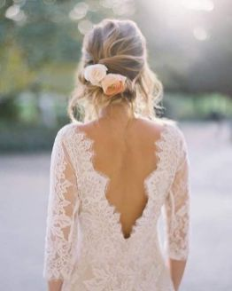 40 Deep V Open Back Wedding Dresses Ideas 40