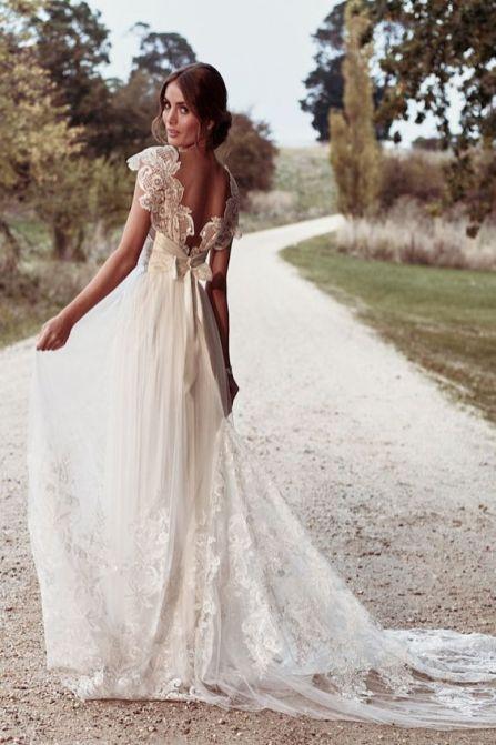 40 Deep V Open Back Wedding Dresses Ideas 46