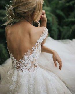 40 Deep V Open Back Wedding Dresses Ideas 47