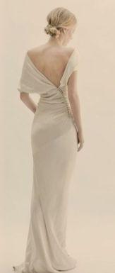 40 Deep V Open Back Wedding Dresses Ideas 8