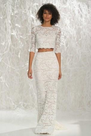 40 Einfache Crop Top Brautkleider Ideen 32