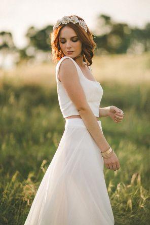 40 Einfache Crop Top Brautkleider Ideen 7