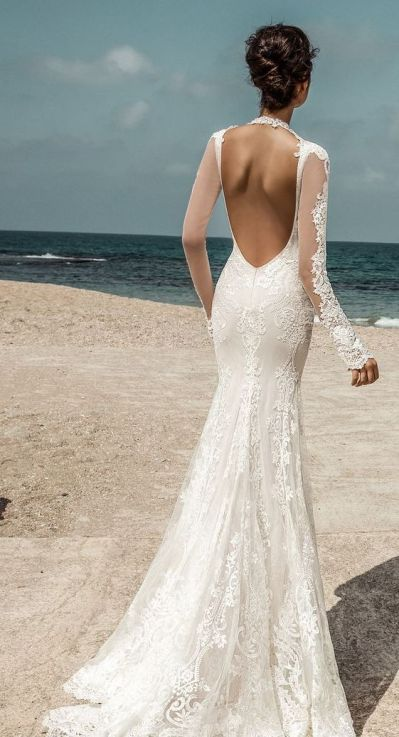 40 Fit and Flare With Long Train Wedding Dresses Ideas 12