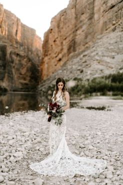 40 Fit and Flare With Long Train Wedding Dresses Ideas 16