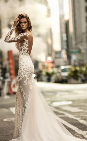 40 Fit and Flare With Long Train Wedding Dresses Ideas 32