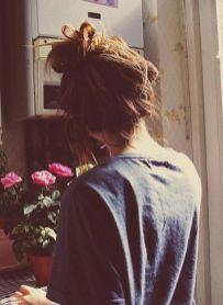 40 High Messy Bun Hairstyles Ideas 23