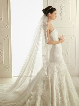 40 Long Viels Wedding Dresses Ideas 3