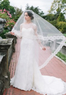 40 Long Viels Wedding Dresses Ideas 37