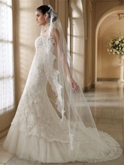 40 Long Viels Wedding Dresses Ideas 45