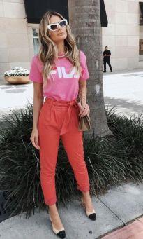 40 Pink T Shirt Street Styles Ideas 19