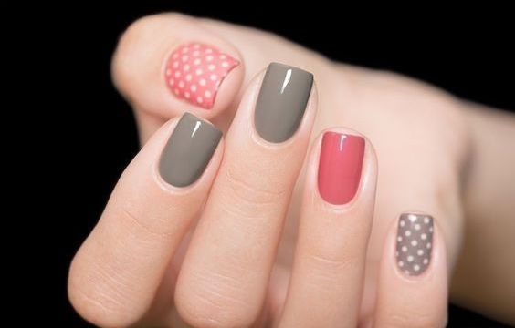 40 Simple Grey Nail Art Ideas 1 1