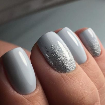 40 Simple Grey Nail Art Ideas 10 2