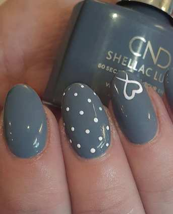 40 Simple Grey Nail Art Ideas 13 2