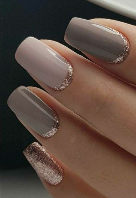 40 Simple Grey Nail Art Ideas 15 2