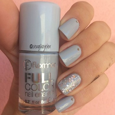40 Simple Grey Nail Art Ideas 22 2