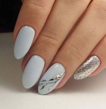 40 Simple Grey Nail Art Ideas 23 2