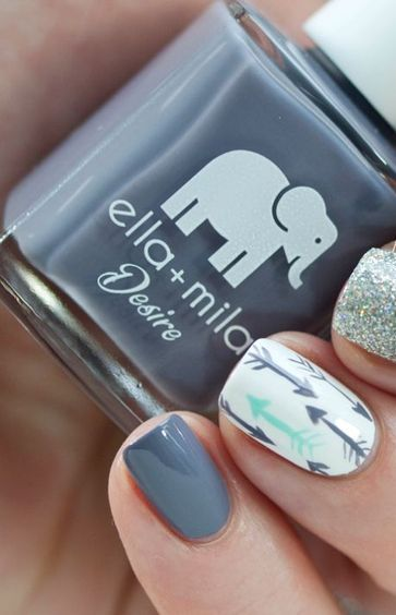 40 Simple Grey Nail Art Ideas 25 2