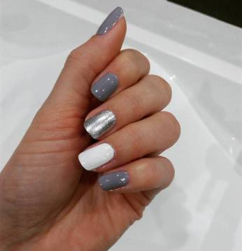 40 Simple Grey Nail Art Ideas 31 2
