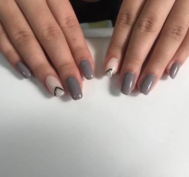 40 Simple Grey Nail Art Ideas 33 2