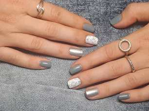 40 Simple Grey Nail Art Ideas 40 2
