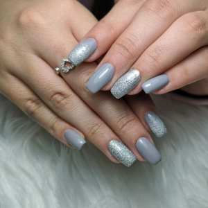 40 Simple Grey Nail Art Ideas 43 2