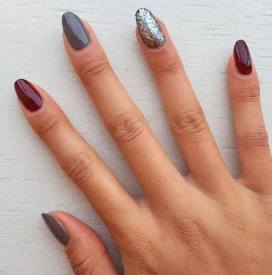 40 Simple Grey Nail Art Ideas 47 2