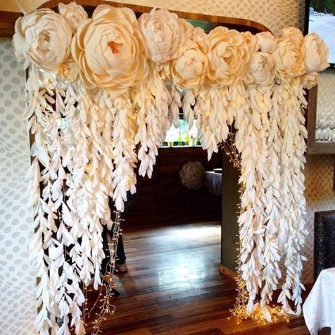 40 Ways to Use Paper Flowers At Your Wedding 29