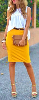 40 Yellow Outfits in Fashion Ideas 1