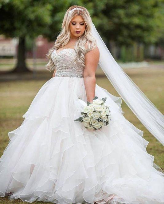 50 Ball Gown for Pluz Size Brides Ideas 26
