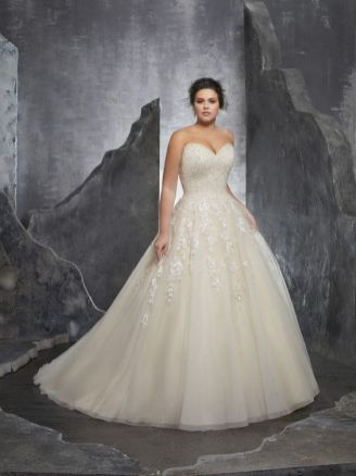50 Ball Gown for Pluz Size Brides Ideas 3
