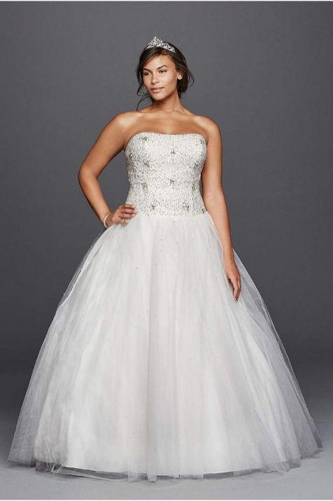 50 Ball Gown for Pluz Size Brides Ideas 6