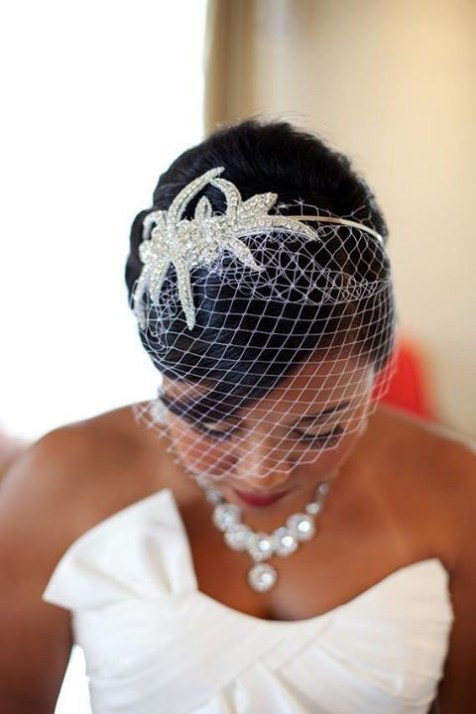 50 Blusher Veils and Bridcage for Brides Ideas 10