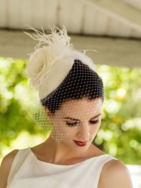 50 Blusher Veils and Bridcage for Brides Ideas 24