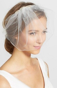 50 Blusher Veils and Bridcage for Brides Ideas 25