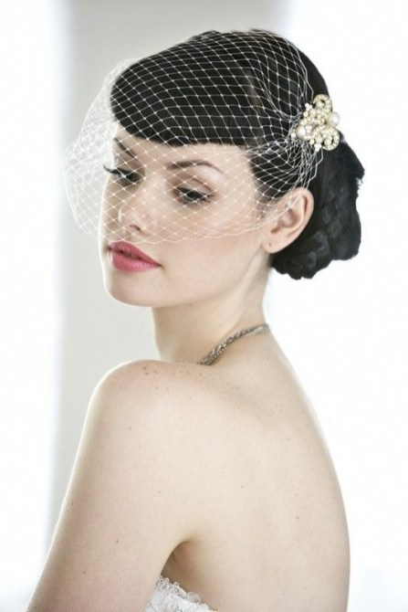 50 Blusher Veils and Bridcage for Brides Ideas 26