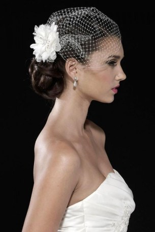 50 Blusher Veils and Bridcage for Brides Ideas 27