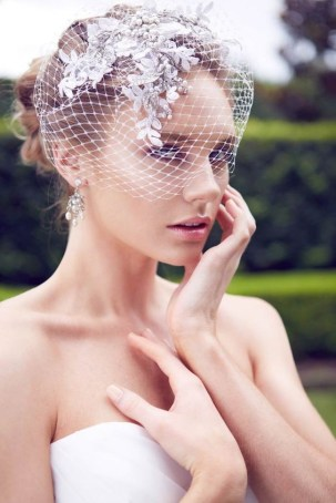 50 Blusher Veils and Bridcage for Brides Ideas 3