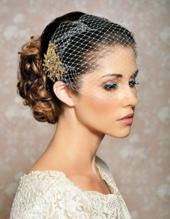 50 Blusher Veils and Bridcage for Brides Ideas 32