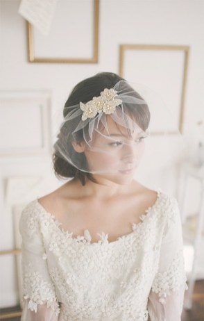 50 Blusher Veils and Bridcage for Brides Ideas 33