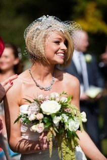 50 Blusher Veils and Bridcage for Brides Ideas 36