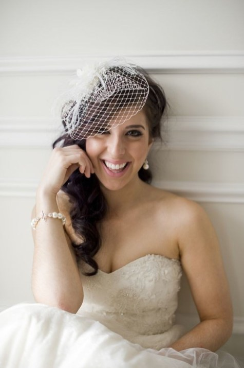 50 Blusher Veils and Bridcage for Brides Ideas 40