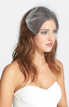 50 Blusher Veils and Bridcage for Brides Ideas 41