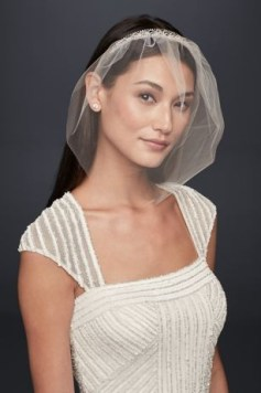 50 Blusher Veils and Bridcage for Brides Ideas 46