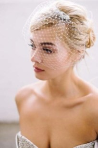 50 Blusher Veils and Bridcage for Brides Ideas 47