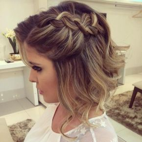 50 Braids Short Hair Wedding Hairstyles Ideas 15