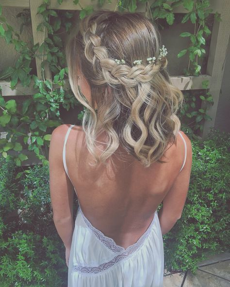 50 Braids Short Hair Wedding Hairstyles Ideas 32
