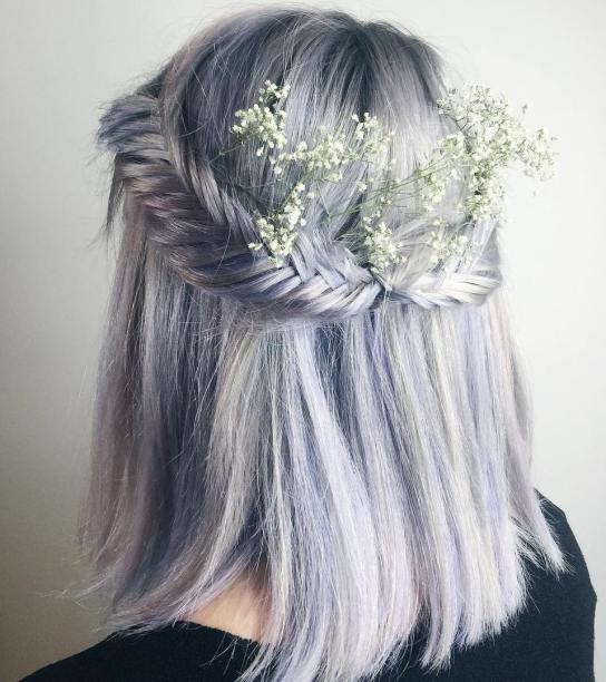 50 Braids Short Hair Wedding Hairstyles Ideas 9