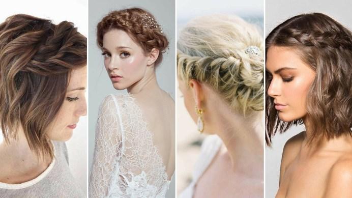 50 Braids Short Hair Wedding Hairstyles Ideas