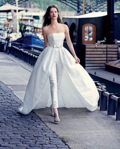 50 Bridal Jumpsuits Look Ideas 40