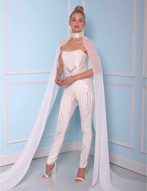 50 Bridal Jumpsuits Look Ideas 53